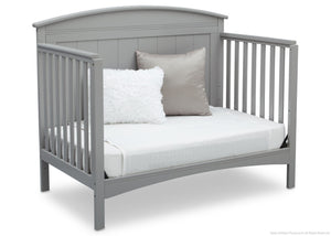 Delta Children Grey (026) Archer 4-in-1 Crib, angled conversion to daybed, a4a