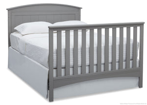 Delta Children Grey (026) Archer 4-in-1 Crib, angled conversion to full size bed, a6a