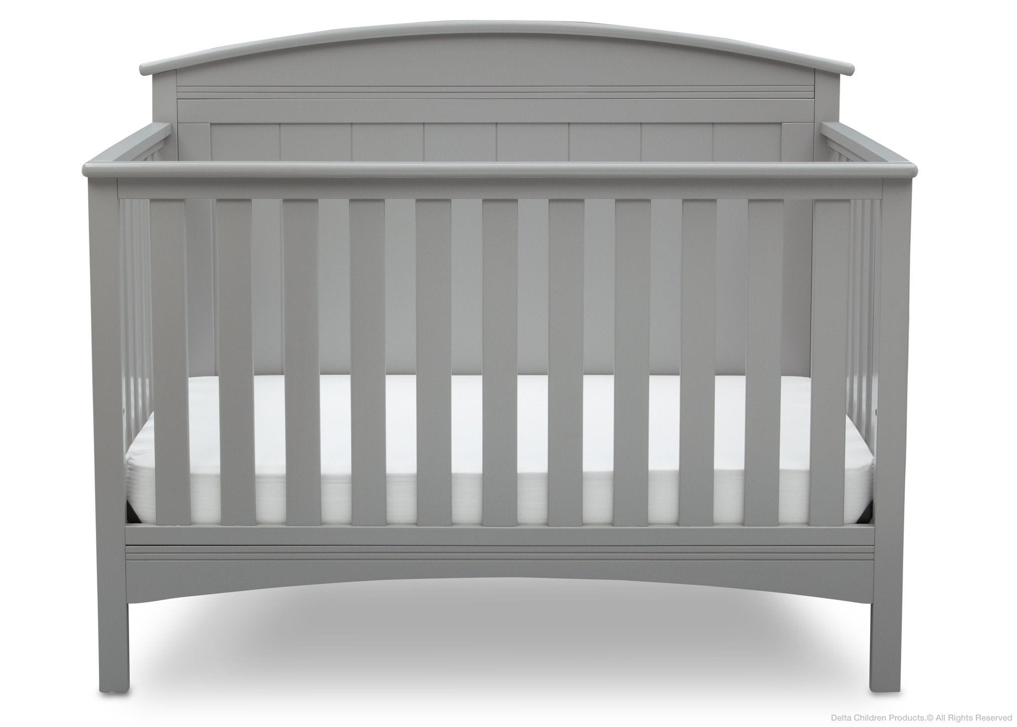 Delta Children Grey (026) Archer 4-in-1 Crib, Front View, a2a