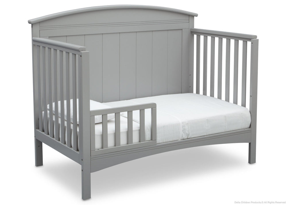 Delta Children Grey (026) Archer 4-in-1 Crib, Angled Conversion to toddler bed a5a