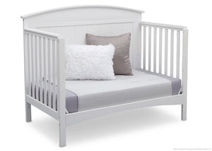 Delta Children Bianca (130) Archer 4-in-1 Crib, angled conversion to daybed, b4b