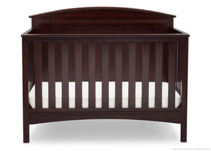 Delta Children Dark Chocolate (207) Archer 4-in-1 Crib Front View c2c