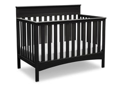 Delta Children Black (001) Fabio 4-in-1 Crib, Right View a2a