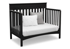 Delta Children Black (001) Fabio 4-in-1 Crib, Right View Daybed Conversion a4a