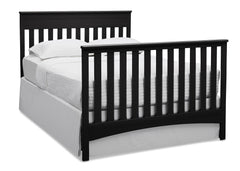 Delta Children Black (001) Fabio 4-in-1 Crib, Right View Full Size Bed Conversion a5a