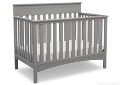 Delta Children Grey (026) Fabio 4-in-1 Crib Side View, Crib Conversion c3c