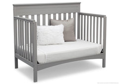 Delta Children Grey (026) Fabio 4-in-1 Crib Side View, Day Bed Conversion c5c