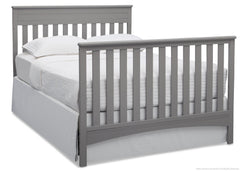 Delta Children Grey (026) Fabio 4-in-1 Crib, Full-Size Bed Conversion c6c