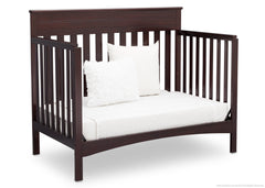 Delta Children Dark Chocolate (207) Fabio 4-in-1 Crib Side View, Day Bed Conversion d5d