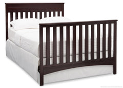 Delta Children Dark Chocolate (207) Fabio 4-in-1 Crib Side View, Full-Size Conversion d6d