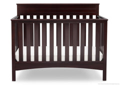 Delta Children Dark Chocolate (207) Fabio 4-in-1 Crib Front View, Crib Conversion d2d