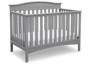 Delta Children Grey (026) Bakerton 4-in-1 Crib Side View a2a