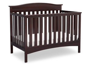 Delta Children Dark Chocolate (207) Bakerton 4-in-1 Crib Side View c3c