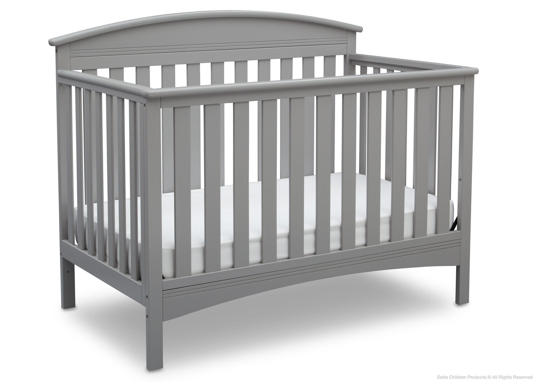 Delta Children Grey (026) Abby 4-in-1 Crib Side View a3a