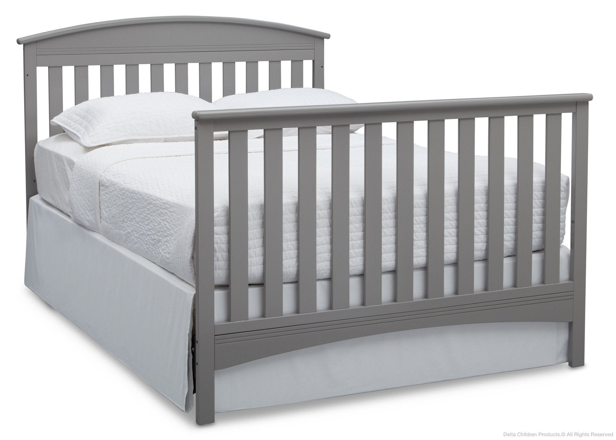 Delta Children Grey (026) Abby 4-in-1 Crib Full Bed Conversion with Footboard a5a