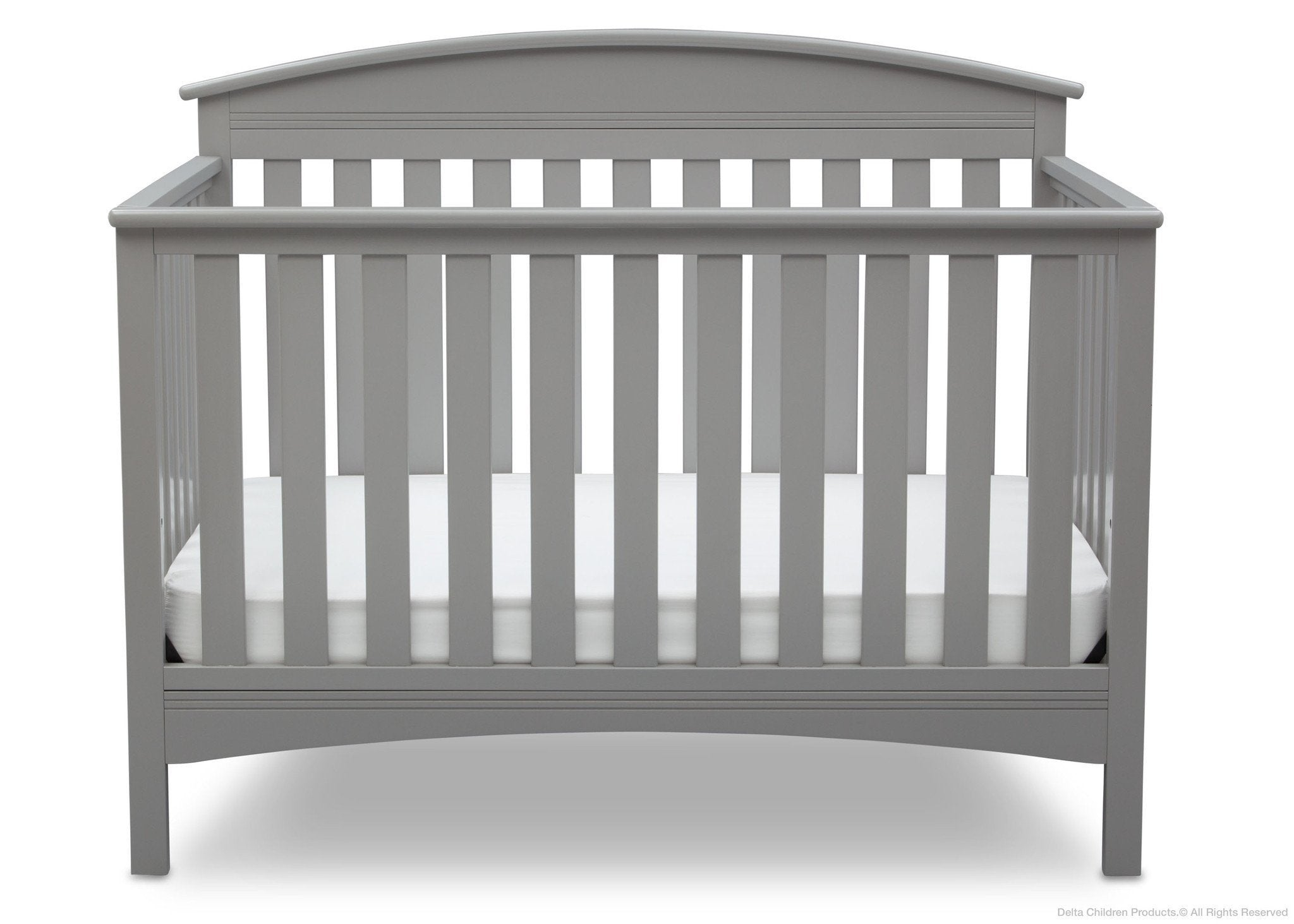 Delta Children Grey (026) Abby 4-in-1 Crib Front View a2a