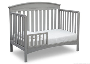 Delta Children Grey (026) Abby 4-in-1 Crib Toddler Bed Conversion Side View a3a