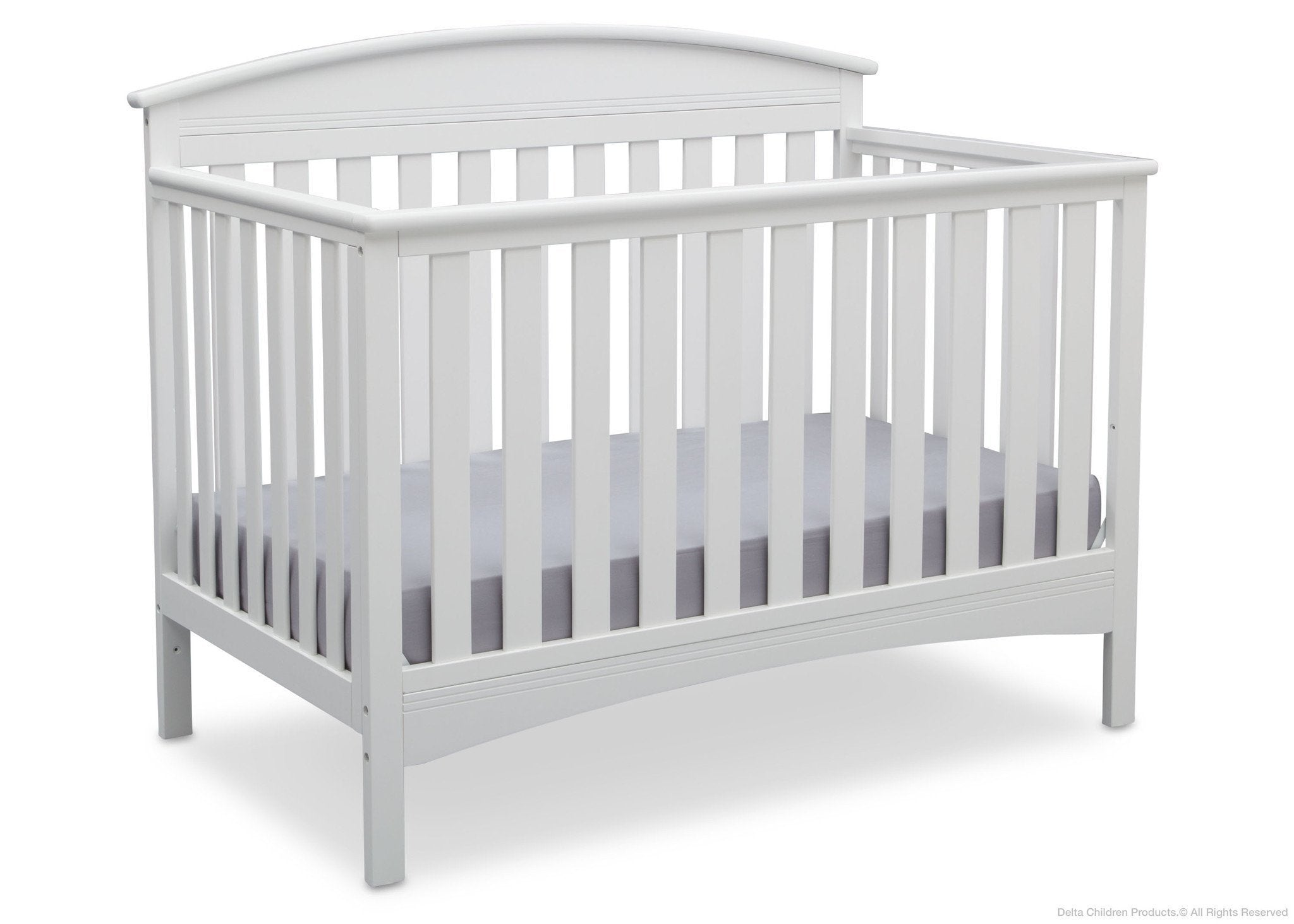 Delta Children Bianca (130) Abby 4-in-1 Crib Side View b3b
