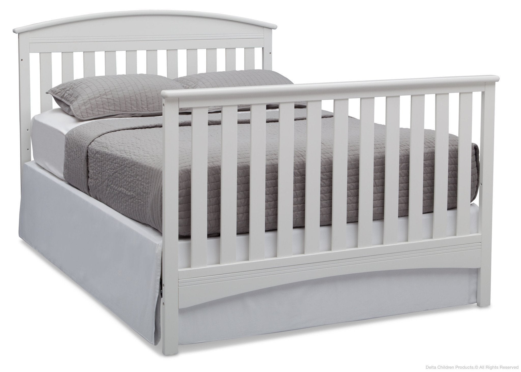 Delta Children Bianca (130) Abby 4-in-1 Crib Full Bed Conversion with Footboard b5b