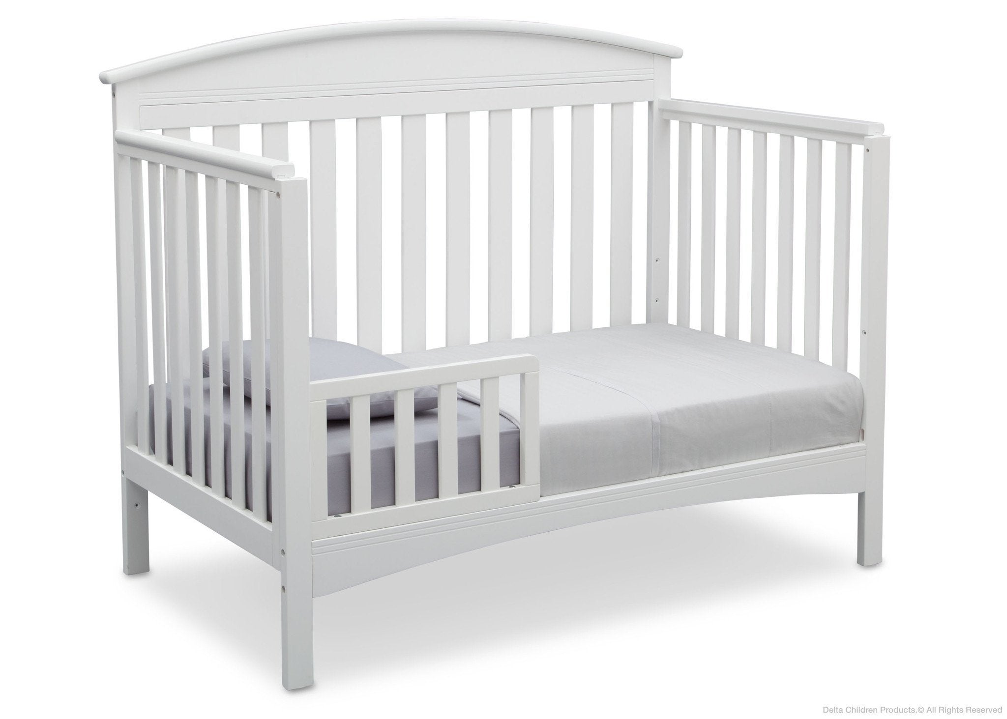 Delta Children Bianca (130) Abby 4-in-1 Crib Toddler Bed Conversion Side View b4b