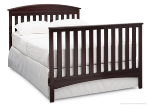 Delta Children Dark Chocolate (207) Abby 4-in-1 Crib Full Bed Conversion with Footboard c6c