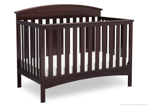Delta Children Dark Chocolate (207) Abby 4-in-1 Crib Side View c3c
