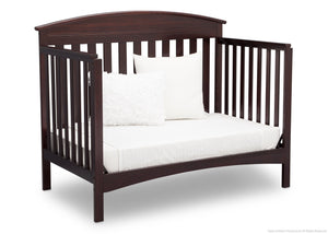 Delta Children Dark Chocolate (207) Abby 4-in-1 Crib Daybed Conversion Side View c5c