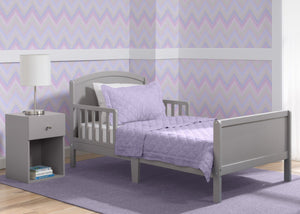 Delta Children Archer Toddler Bed, Grey (026), Room View, a1a