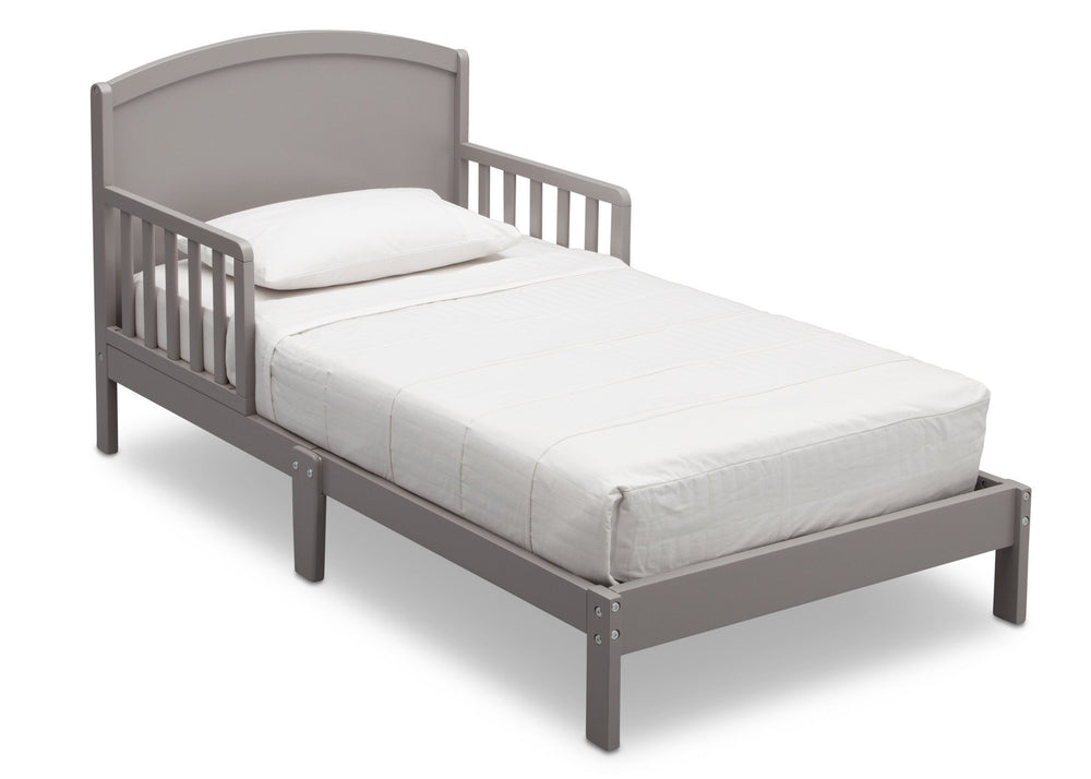 Delta Children Abby Toddler Bed, Grey (026), Right View, a2a