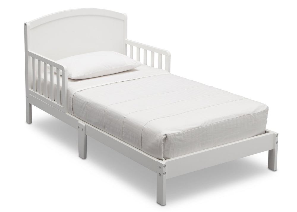 Delta Children Abby Toddler Bed, Bianca (130), Right View, b2b