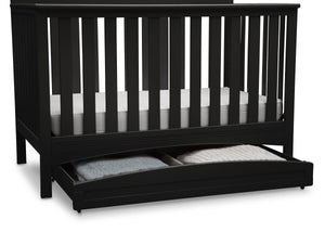 Delta Children Black (001) Delta Arch Trundle, d2d