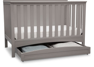 Delta Children Grey (026) Delta Arch Trundle under Crib with Props a2a