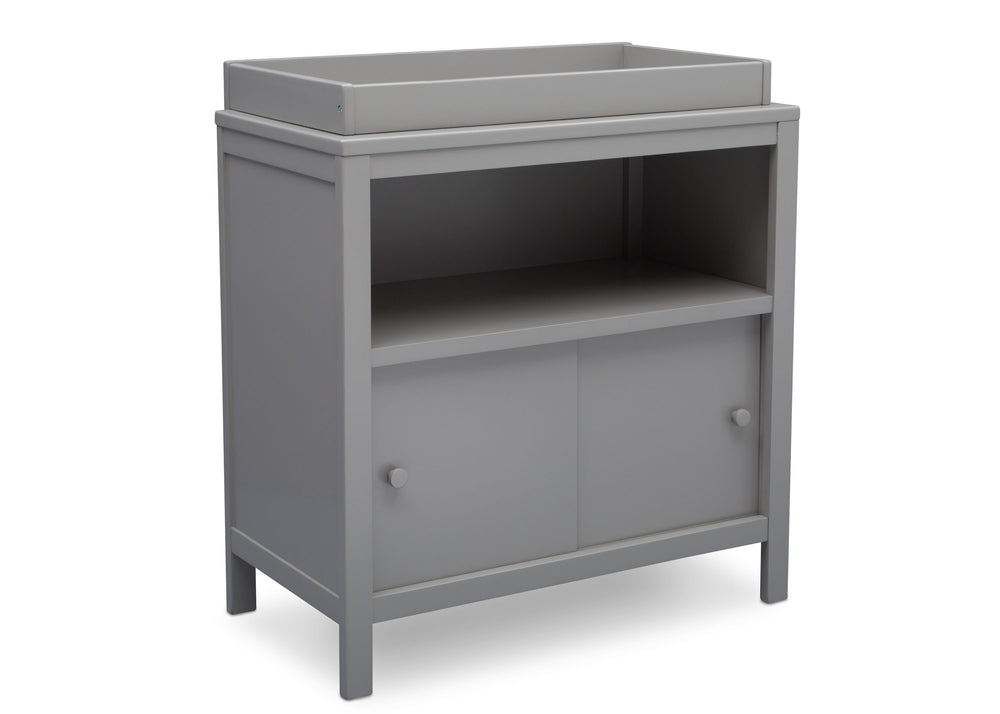 Delta Children Grey (026) Convertible Changing Unit, side view, a2a