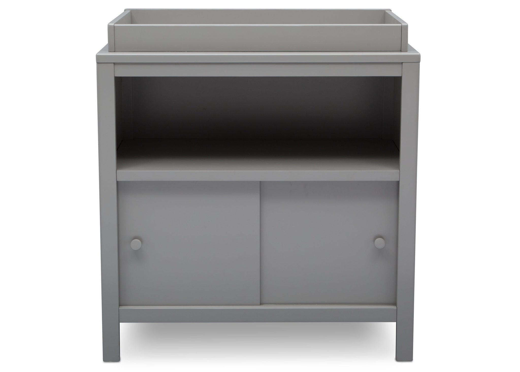 Delta Children Grey (026) Convertible Changing Unit, front view, a3a