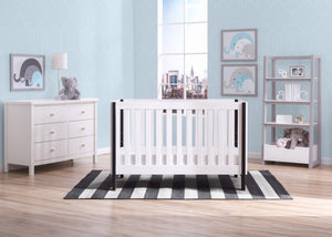 Delta Children Bianca with Ebony (149) Bellevue 3-in-1 Crib, Room Shot a1a