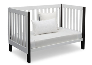 Delta Children Bianca with Ebony (149) Bellevue 3-in-1 Crib, Daybed Conversion a7a