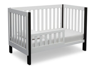 Delta Children Bianca with Ebony (149) Bellevue 3-in-1 Crib, Toddler Bed Angled View a5a