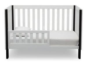 Delta Children Bianca with Ebony (149) Bellevue 3-in-1 Crib, Toddler Bed Front View
