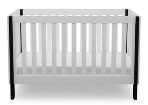 Delta Children Bianca with Ebony (149) Bellevue 3-in-1 Crib, Front Crib View a3a