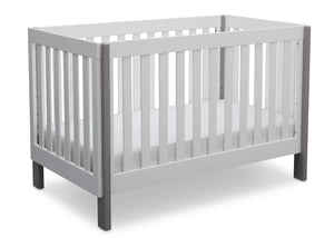 Delta Children Bianca with Grey (166) Bellevue 3-in-1 Crib, Angled Crib View b4b