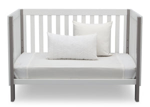 Delta Children Bianca with Grey (166) Bellevue 3-in-1 Crib, Daybed Front View