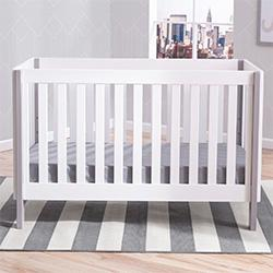 Bellevue 3-in-1 Crib (Bianca with Grey) - bundle