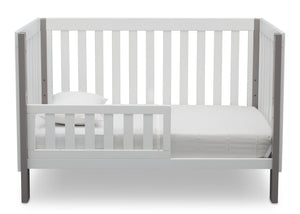 Delta Children Bianca with Grey (166) Bellevue 3-in-1 Crib, Toddler Bed Front View