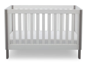 Delta Children Bianca with Grey (166) Bellevue 3-in-1 Crib, Front Crib View b3b