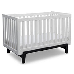 Delta Children Bianca with Ebony (149) Aster 3-in-1 Crib, Angled Crib View a4a