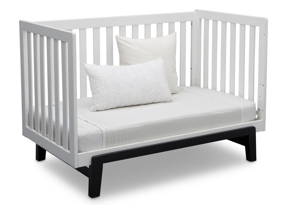 Delta Children Bianca with Ebony (149) Aster 3-in-1 Crib, Daybed Conversion a7a