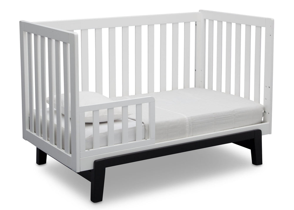Delta Children Bianca with Ebony (149) Aster 3-in-1 Crib, Toddler Bed Conversion a5a