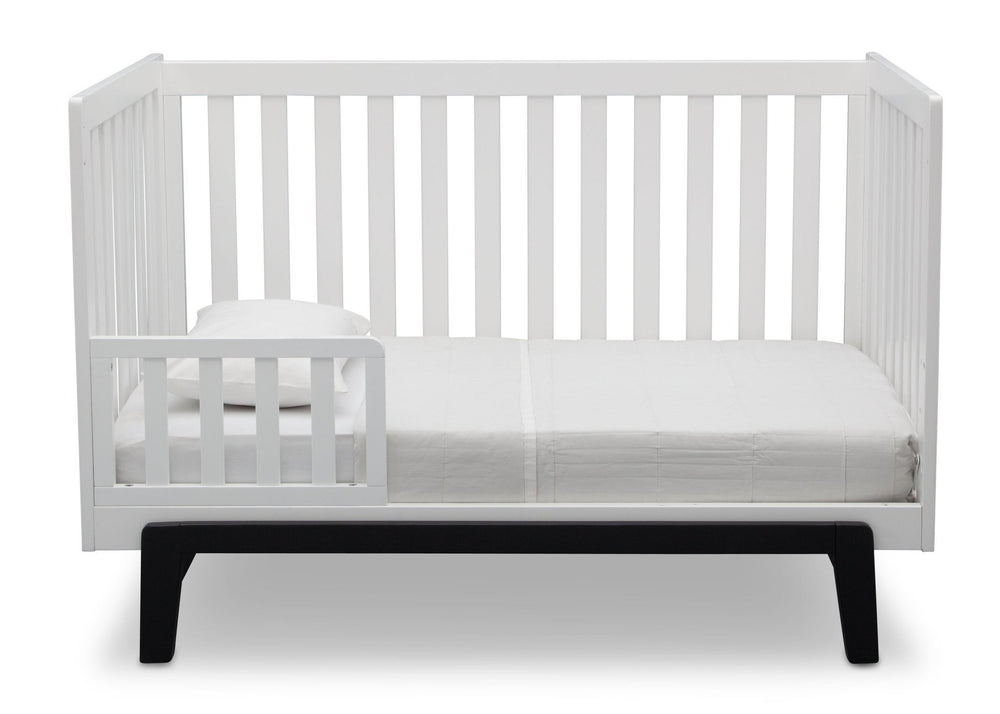 Delta Children Bianca with Ebony (149) Aster 3-in-1 Crib, Toddler Bed Conversion