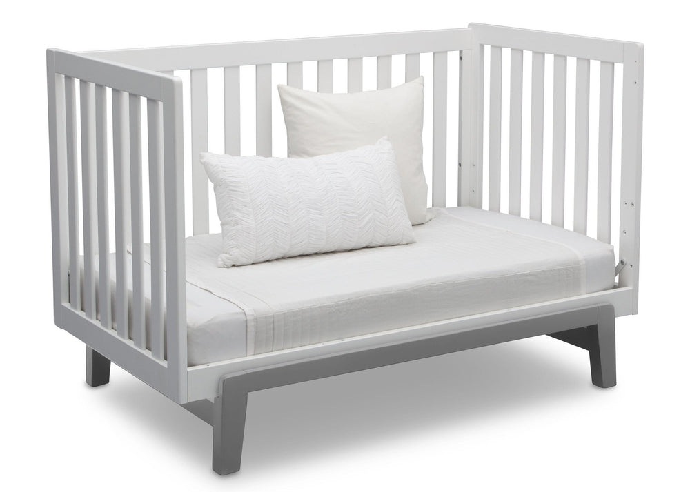 Delta Children Bianca with Grey (166) Aster 3-in-1 Crib, Daybed Conversion b8b