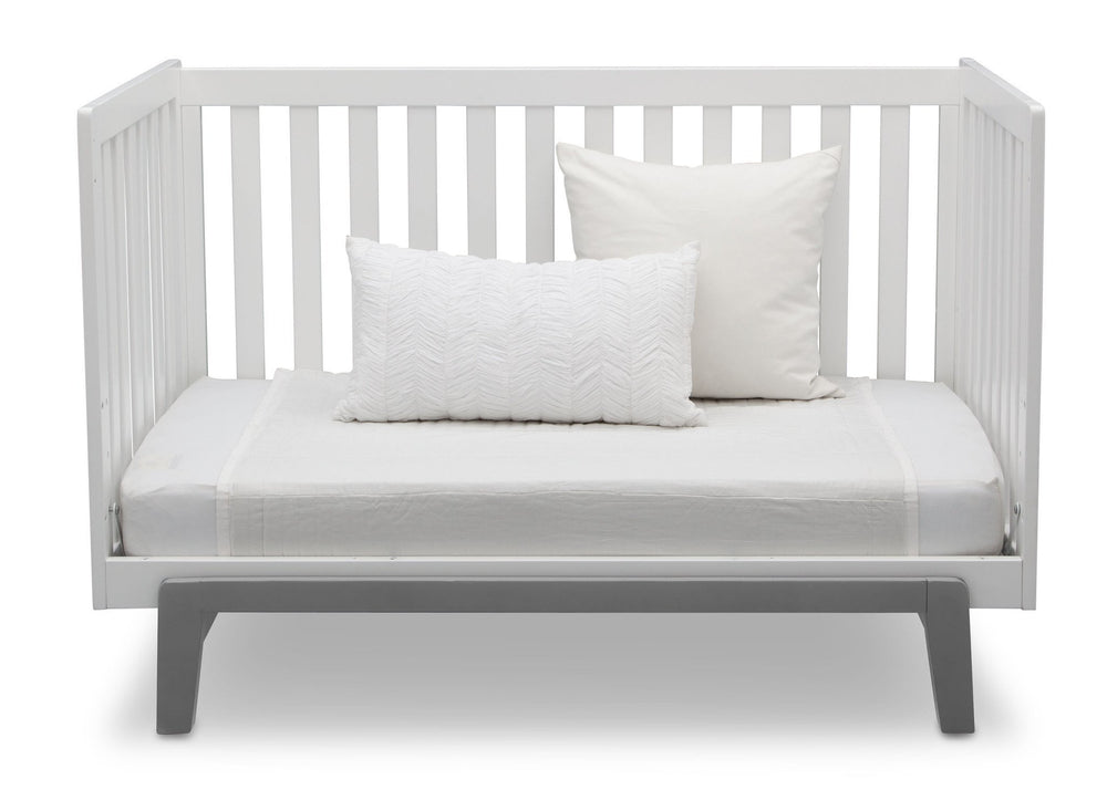 Delta Children Bianca with Grey (166) Aster 3-in-1 Crib, Daybed Conversion